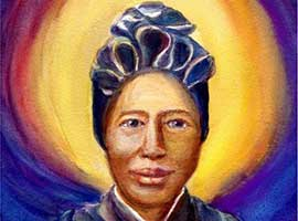 Saint Josephine Bakhita who was born in Sudan and sold into slavery has become known as the patron of human trafficking victims.  Image by www.agnusimages.com