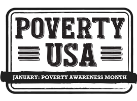 Poverty Awareness month graphic.