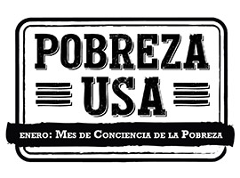 Poverty USA B&W Logo in spanish