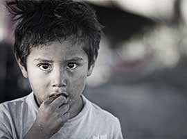 A young immigrant boy. iStock image.