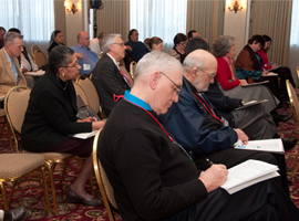 Each year CSMG offers workshops relevant to current events.  Pictured here is a 2011 workshop:  A Faithful Response to the Jobs Crisis.