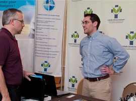 CSMG attendees to meet one another and visit exhibitor tables to find new ways get involved in Catholic Social Ministry.