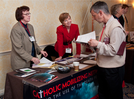 Breaks between events provide opportunities for CSMG attendees to meet one another and visit exhibitor tables.
