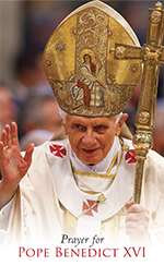 English prayer card for Pope Benedict XVI thumbnail