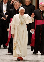 pope benedict audience december 2011 walking cns paul haring small