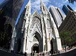 St. Patrick's Cathedral in New York City seen through a fisheye lens. CNS Photo/Gregory A. Shemitz.