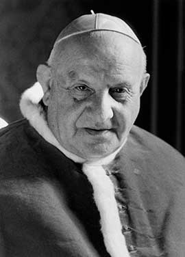 Pope John XXIII is pictured in an undated portrait.  CNS photo.
