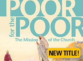 Ad Poor for the Poor book on sale in the USCCB store