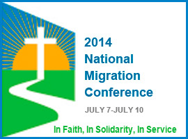 Logo for the 2014 National Migration Conference.