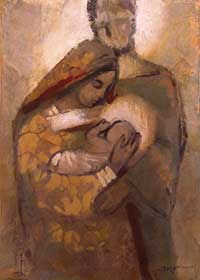 This artistic depiction of the Holy Family is the central image for National Migration Week 2015.