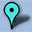 Google Map Marker Icon 32x32 Cyan