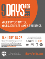 9 Days for Life Flyer
