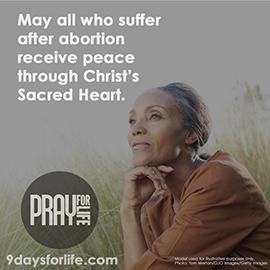 Pray for life year-round! Sign up today for monthly messages at www.9daysforlife.com.