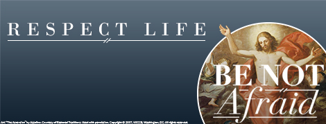 Twitter Respect Life Cover Photo: Be Not Afraid
