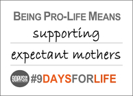 9 Days for Life Selfie Sign