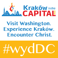 Logo for the 2016 stateside celebration of World Youth Day in the Archdiocese of Washington.