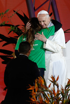 Be sure of this: my pastoral heart embraces all of you with universal affection. -Pope Francis