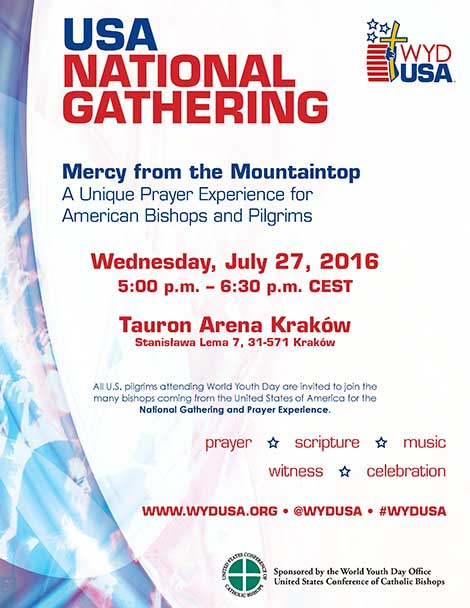 World Youth Day USA Gathering flyer.