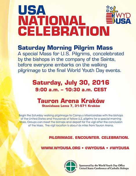 World Youth Day USA Mass flyer.
