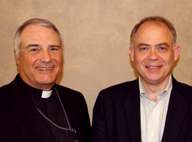 The Right Rev. John Bauerschmidt and Most. Rev. Ronald Herzog – Co-Chairs of the ARC dialogue – at a 2012 meeting in New York City