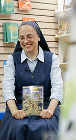 Pauline Sister Maria Grace Dateno talks to children about her book series