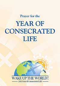 An illustration of the sun rising over the earth with a large cross on its surface is the featured image for the Year of Consecrated Life.