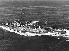 The USS  Schmitt. U.S. Government photo.