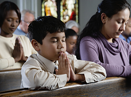Support the Catholic Home Missions Appeal - Little Boy Praying Montage Image