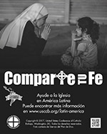 Collection for the Church in Latin America Print Ad Thumbnail Grayscale en espanol