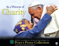 The Peter's Pence collection is held in most dioceses on the Sunday in June nearest the Feast of Sts. Peter and Paul.