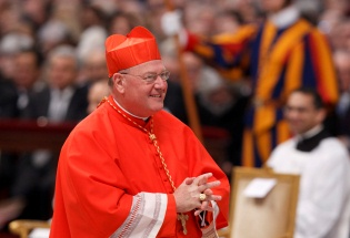 Cardinal Dolan at the February 2012 Consistory CNS Photo Paul haring