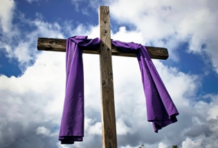 purple-draped-lenten-cross-home-istock