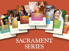 Cover images of the USCCB's pamphlets on the sacraments.