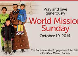 A family from Mongolia is featured on the 2014 poster for the World Mission Sunday.
