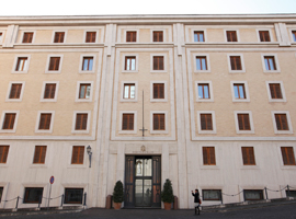 Domus Sanctae Marthae residence where cardinal electors will live during conclave seen at Vatican - CNS photo/Paul Haring