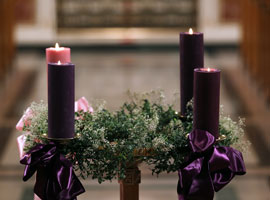 The Advent wreath is a traditional symbol of the season. CNS Photo/Bob Roller.