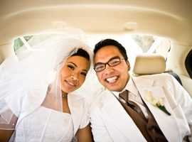 bridre-and-groom-in-limo-montage