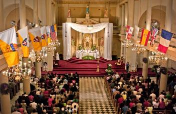 St. Louis Cathedral in New Orleans on the first Easter after Hurricane Katrina. USCCB Photo.