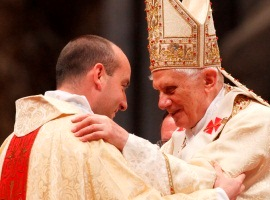 pope greets new ordinand cns paul haring montage