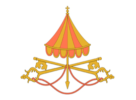 Sede vacante insignia used by Vatican during period between popes - CNS illustration/Tim Meko
