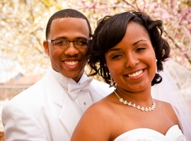 smiling-bride-and-groom-on-wedding-day-montage