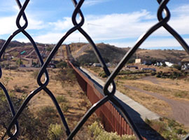Along the U.S.-Mexico border near El Paso, TX.  USCCB Photo