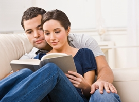 Young Couple Reading