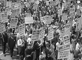 Civil Rights Marchers. CNS archive photo