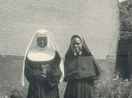 Sisters Mary Paul (Susan) and Mary Agnes (Bertha) circa 1950), Courtesy, Oblate Sisters of Providence