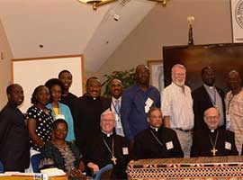 Bishop Dewane (panelist) Bishop Perry (panelist) and Bishop del Riego (panelist) with National Adviser Meeting participants.