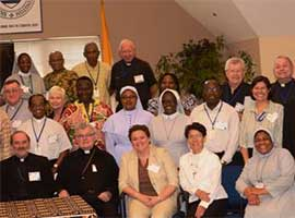 Bishop da Cunha,(panelist) Bishop Esterka,(panelist) with USCCB Staff and National Adviser Meeting participants.