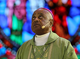 Archbishop Wilton D. Gregory concelebrates Mass during the Convocation.
