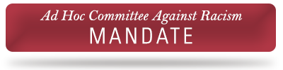 Ad Hoc Committee Against Racism - Mandate