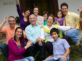 multi-generational-hispanic-family-waving-montage